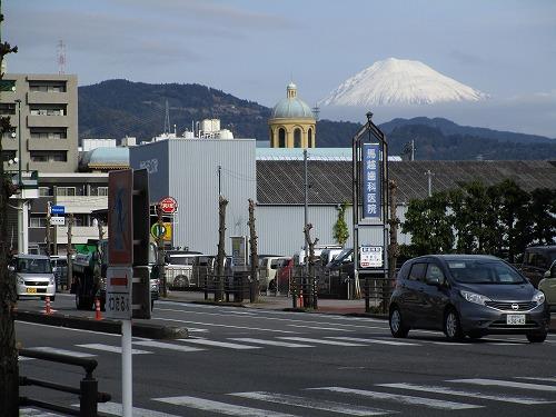 歩道から富士山