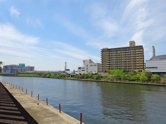 「リバーコート」側から望む隅田川