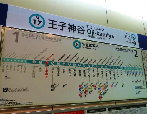 東京メトロ南北線「王子神谷」駅 路線図