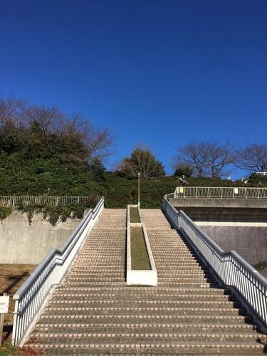 滝の水 公園階段1