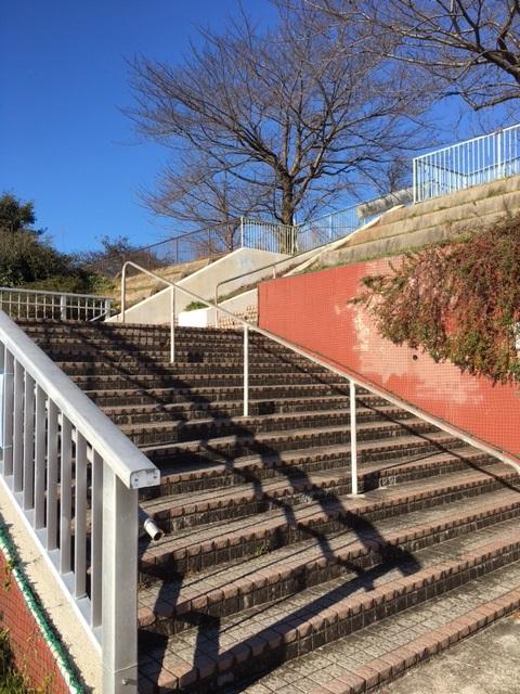 滝の水 階段2