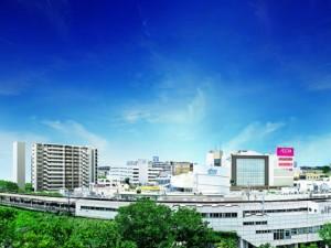 駅前のヒキ画像
