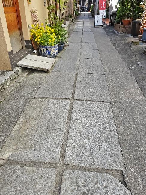 四谷荒木町の石畳