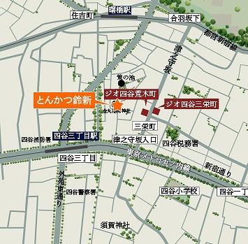 「とんかつ鈴新」地図