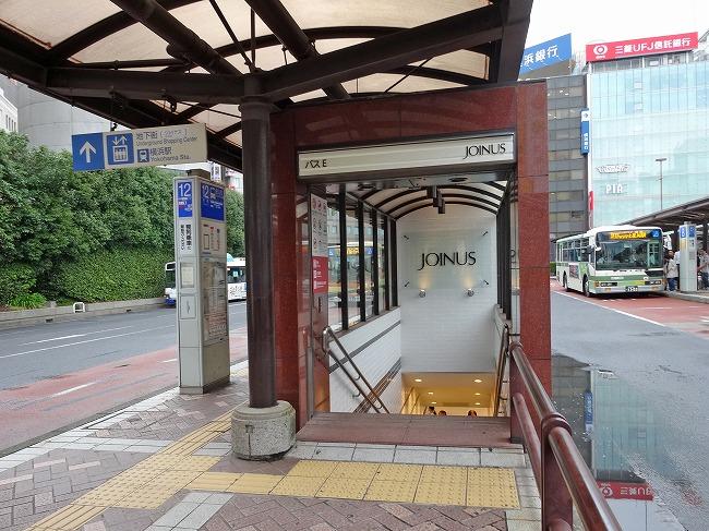 横浜駅西口バスターミナル バスのりば