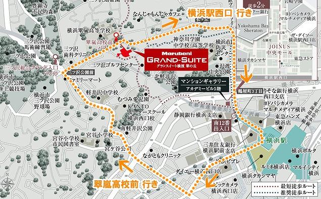 横浜市営バス 34系統 路線図