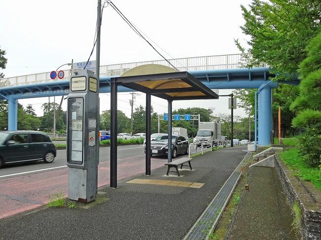 「三ツ沢総合グランド入口」バス停