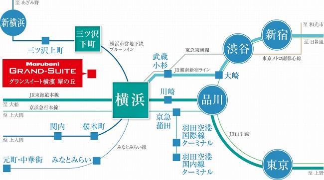 横浜駅 略式路線図