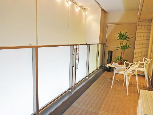 「グランスイート横濱 翠の丘」モデルルーム(バルコニー)