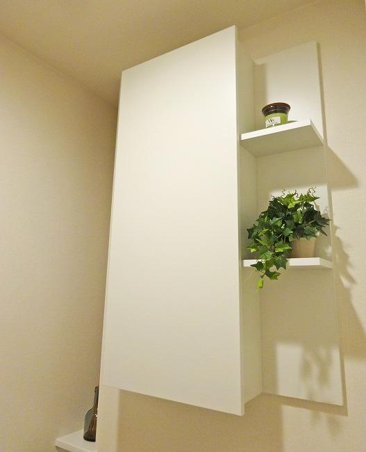 「グランスイート横濱 翠の丘」モデルルーム(トイレ・吊戸棚)