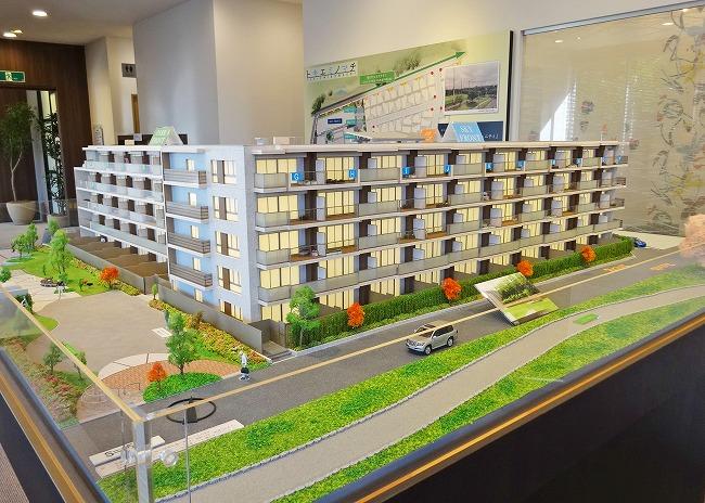 「プラウド西武立川」建物模型(バルコニー側)