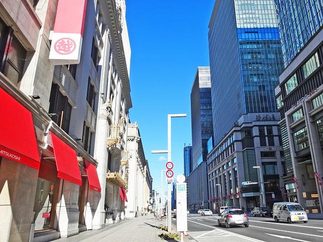 日本橋の街並み(現地より約990m)