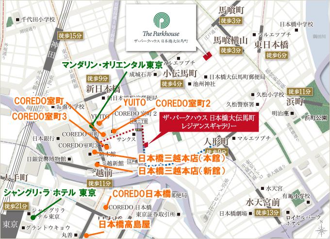 三越前・日本橋周辺MAP