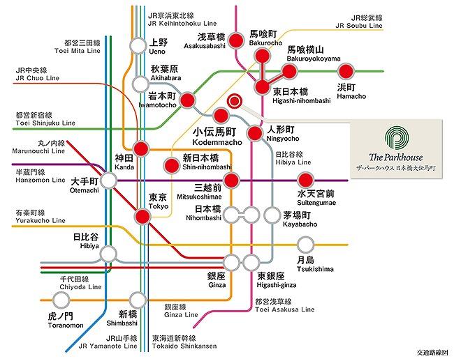 交通アクセス概略図
