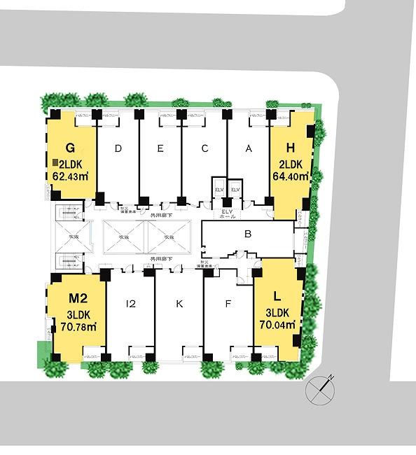「ザ・パークハウス 日本橋大伝馬町」3階平面図